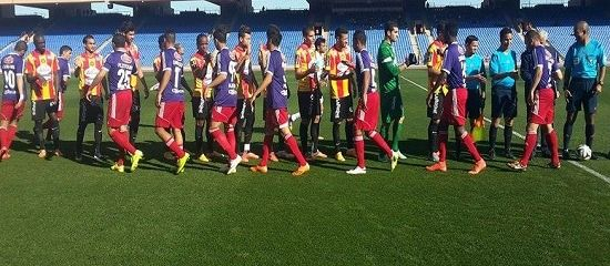 Les Sang et Or disputaient le 28 janvier 2015 un match amical face au KAC Marrakech. (Photo est.org.tn)