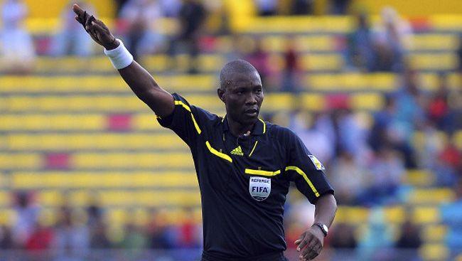 Néant Alioum, arbitre de la rencontre de l'Espérance face à Al Ahly. (Image beINSports)