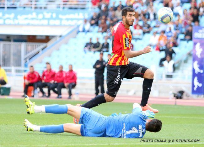 Haythem Jouini une nouvelle fois buteur face au CA Bizertin à Radès. (Photo CHALA)