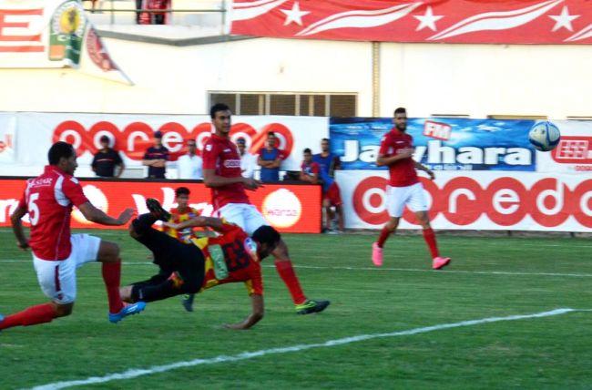 Khenissi auteur du but de qualification pour les demi-finales de la Coupe de Tunisie face à l'ES Sahel, le 16 août 2016 au stade olympique de Sousse. (Photo B. Mansour)