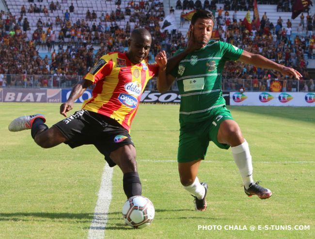 Bernard Bulbwa lors du premier match du championnat face au Stade Gabésien, le 10 septembre 2016 à Radès. (Photo CHALA)