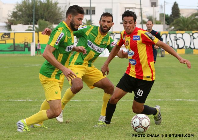 Jelassi lors du match face à l'AS Marsa du 24 septembre 2015 au stade Chétioui. (Photo CHALA)