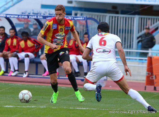 Fakhreddine Ben Youssef encore une fois buteur face à l'ES Métlaoui. (Photo CHALA)