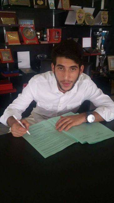 Mohamed Amine Meskini signe à l'Espérance. (Photo Facebook/ Anon)