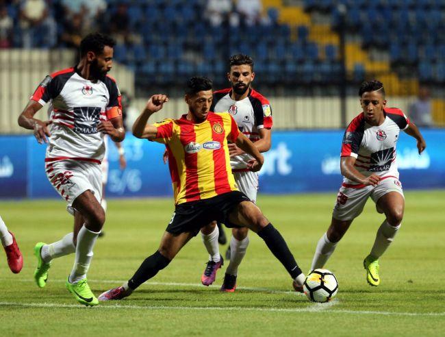 Anice Badri, homme du match face au FUS Rabat en demi-finale du championnat arabe des clubs. (Photo @dawriplus)