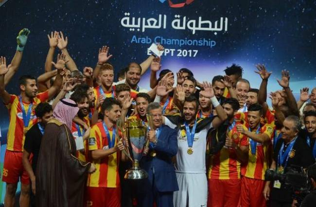 Espérance beat Al Faisaly and win the 2017 Arab Championship. (STR / AFP Photo)