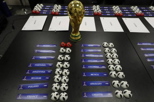 Tirage au sort de la Coupe du Monde Russie 2018. (Fifa.com)