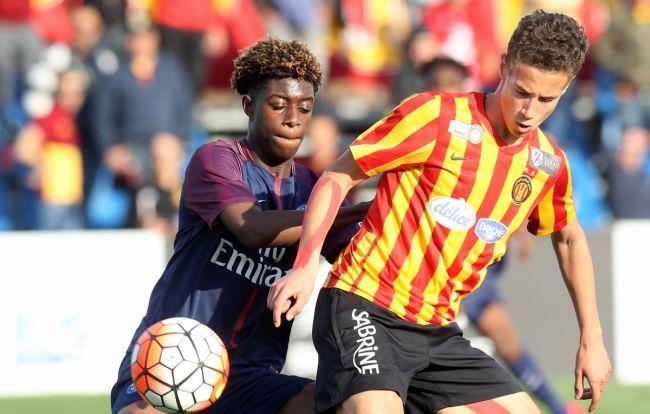 Zied Berrima face au Paris Saint-Germain à Al Kass U17 Cup (Photo @ALKASSChannel)