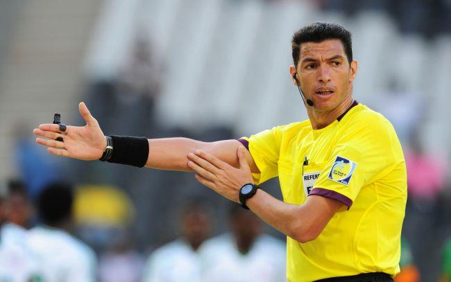 L'arbitre égyptien Gehad Zaghloul Grisha pour le match face au CS Sfaxien. (Photo dailytimes.ng)