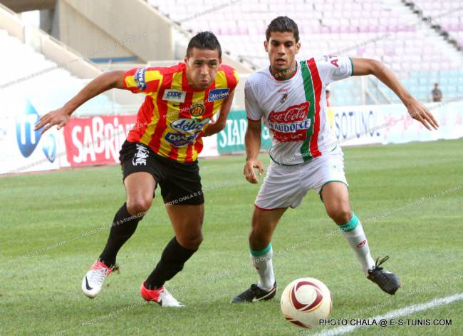 Youcef Belaïli face au Stade Tunisien. (Photo CHALA)