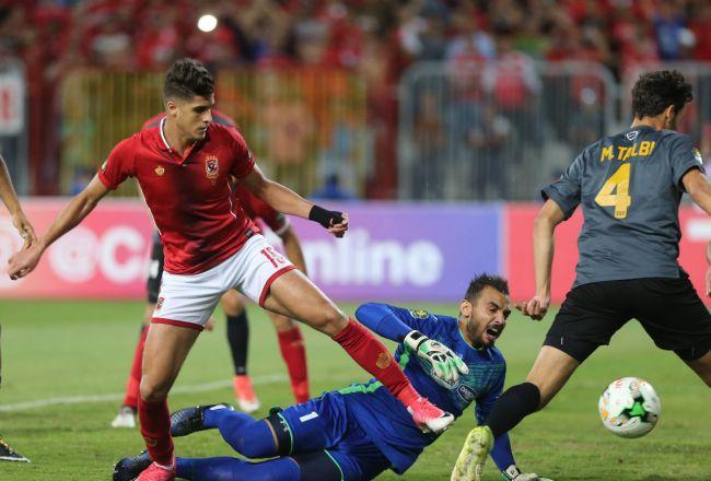 Talbi sera absent face à Al Ahly en Champions League. (Photo Nile Sports)