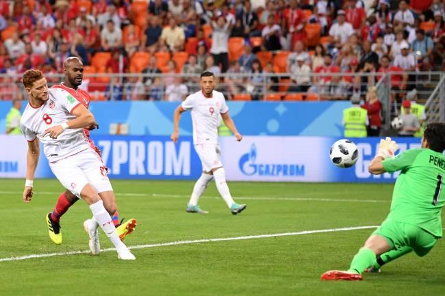 Fakhreddine Ben Youssef buteur et homme du match face à au Panama. (Photo FIFA)