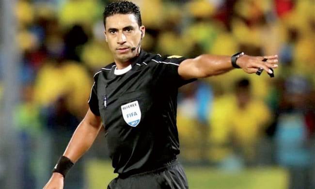 Lahcen Azgaou, arbitre marocain de la rencontre de Ligue des champions face à KCCA FC. (Photo lematin.ma)