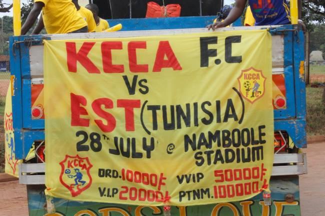 Affiche publicitaire pour le match de Kampala. (Photo @KCCAFC)