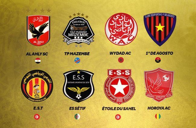 Les huit qualifiés pour les quarts de finale de la CAF Champions League 2018. (CAFOnline)