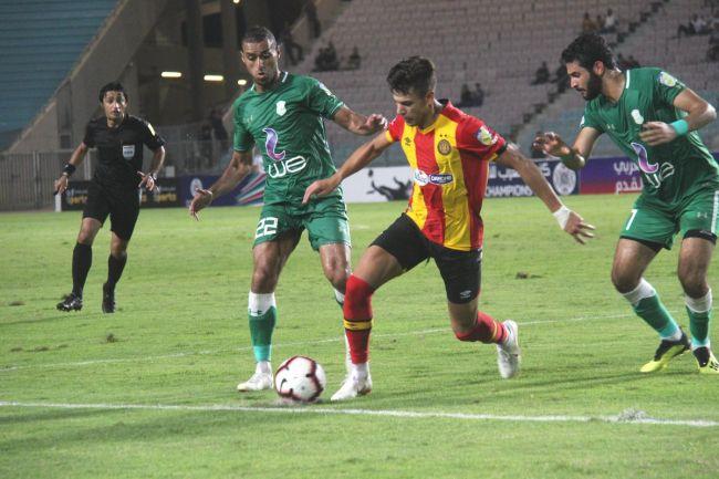 Maher Besseghaïer inefficace face à Al Ittihad d'Alexandrie. (Photo @UAFAAC)