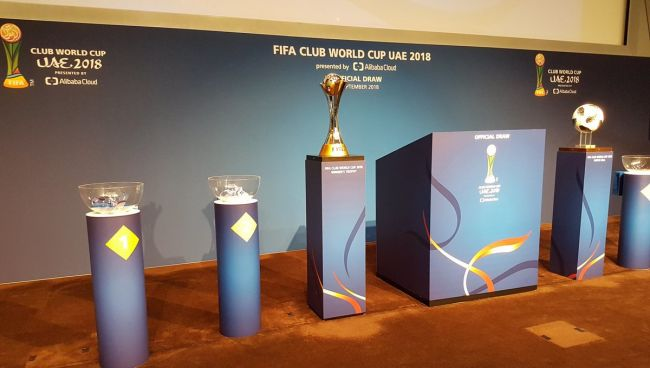 Tirage au sort de la Coupe du Monde des Clubs de la FIFA, E.A.U. 2018. (Photo FIFA)