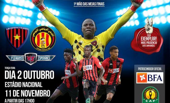 Affiche du match face à CD Primeiro de Agosto