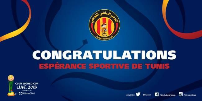 L'Espérance de Tunis champion d'Afrique 2018 !! Congratulations ! (Fifa.com)
