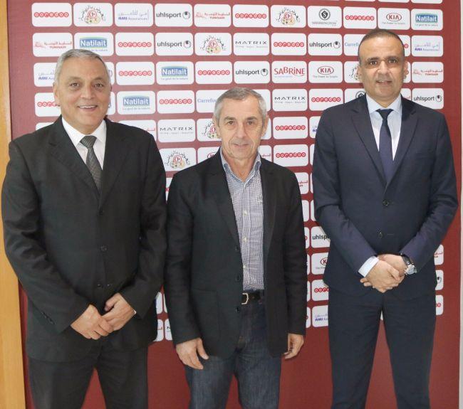 الفرنسي ألان جيراس المدرب الجديد للمنتخب الوطني التونسي. صورة : الجامعة التونسية لكرة القدم