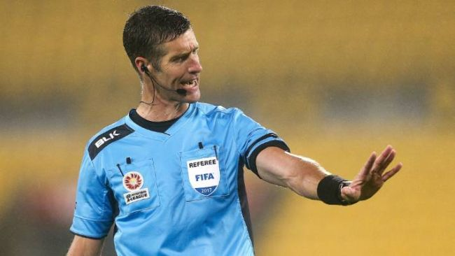 Matthew Conger, arbitre néo-zélandais de la rencontre Espérance vs. CD Guadalajara. (Photo Stuff.co.nz)