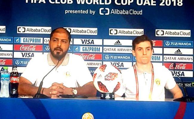 Mouïne Chaâbani et Aymen Ben Mohamed en conférence de presse avant le match face à CD Guadalajara. (Photo Fifa.com)