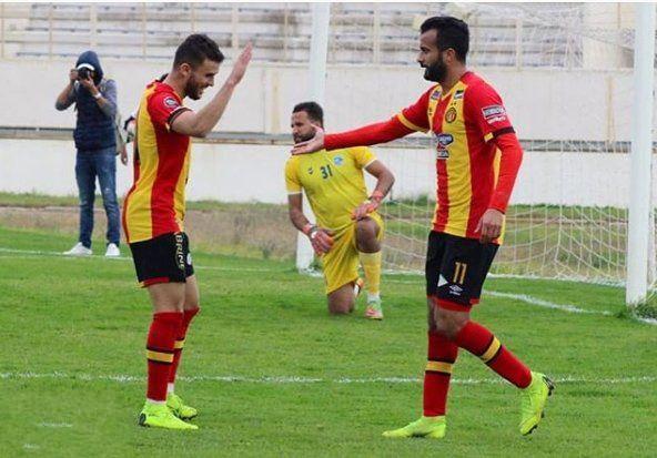 Khenissi et Meziani artisans de la victoire de l'Espérance de Tunis sur le Club Africain. (Photo @echibek5)