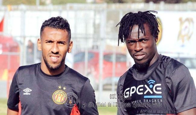 Les nouvelles recrues Elhouni et Lokosa déjà qualifiées pour les matches de Ligue des champions. (Photo est.org.tn)
