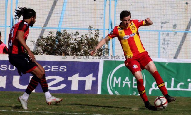 Aymen Ben Mohamed face à l'AS Gabès en Coupe de Tunisie, le 29 janvier 2019. (Photo est.org.tn)