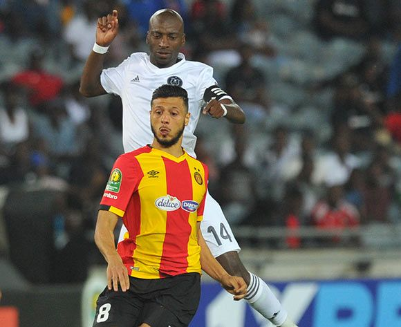 Anice Badri gave Esperance the lead before Haythem Jouini made it 2-0. Photo | Sydney Mahlangu | BackpagePix
