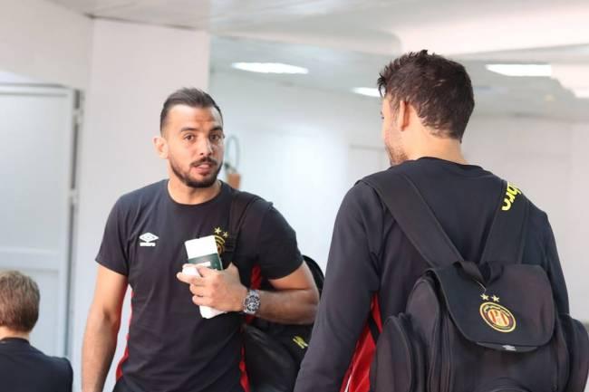 Moez Ben Chérifia et Mohamed Ali Yaâkoubi à l'aéroport.
