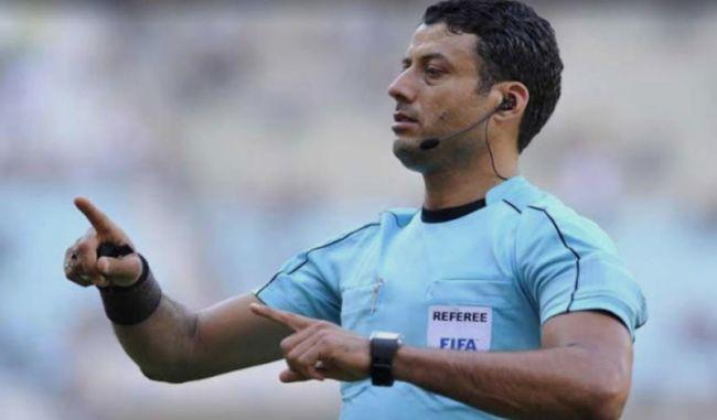 L'arbitre Youssef Sraïri désigné pour le Supercoupe de Tunisie. (Photo twitter)