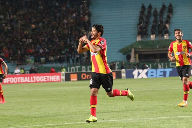 Saâd Bguir gave Esperance the lead with two magnificent strikes against CS Constantine. Photo | Espace Manager