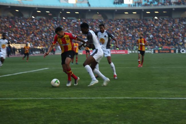 Youcef Belaili scored the only goal between Esperance and TP Mazembe. Photo | Espace Manager