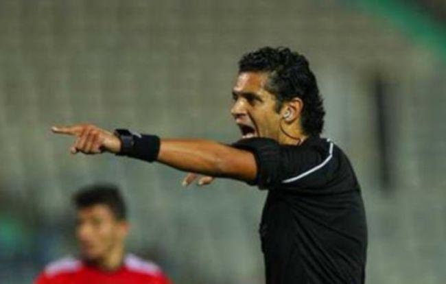 L'arbitre égyptien Ahmed El-Ghandour pour la rencontre EST vs. USMo (Photo ghanasoccernet.com)