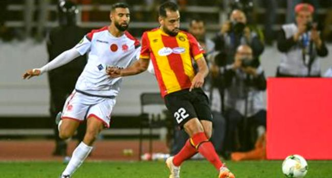 Sameh Derbali in the CAF Champions League final against Wydad AC. (Photo CAFOnline.com)