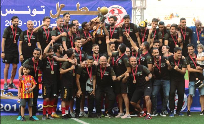 L'Espérance de Tunis remporte le championnat de Tunisie pour la 29è fois. Félicitations ! (Photo est.org.tn)