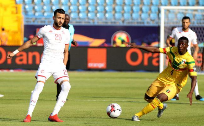 Encore une belle prestation de Ghaïlène Chaâlali aujourd'hui malgré le match nul concédé face au Mali. (Photo CAFOnline.com)