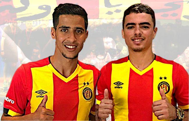 Les deux nouvelles recrues sang et or, Abderraouf Benguit et Ilyes Chetti. (Photos est.org.tn)