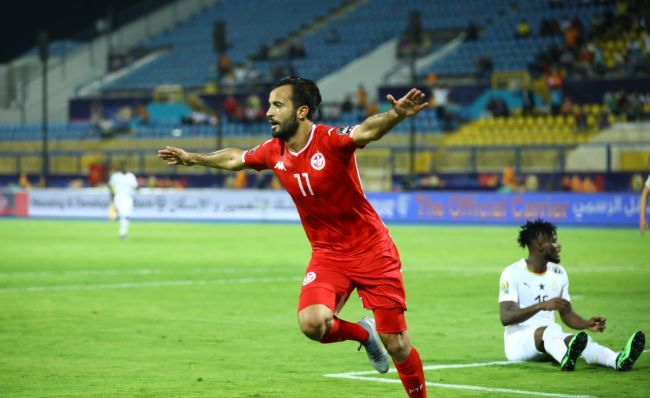 Khenissi auteur d'une excellente prestation face au Ghana en huitième de finale de la CAN 2019. (Photo CAFOnline.com)