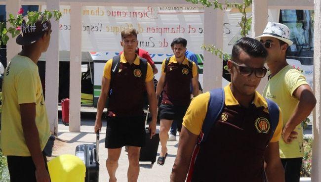 Arrivée des joueurs de l'Espérance de Tunis à Monastir. (Photo est.org.tn)