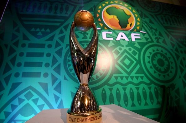 The Total CAF Champions League trophy prior to the December 28, 2018 draw in Cairo. Photo | MOHAMED EL-SHAHED | AFP | Getty Images