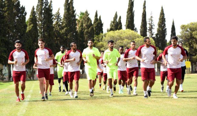 La formation saoudienne de Hitteen FC en stage en Tunisie. (Photo @HitteenFC)