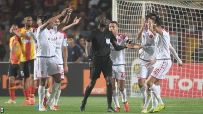 Wydad Athletic Club lose CAF CL 2019 final 2nd leg for the abandonment of the match. Photo | AFP