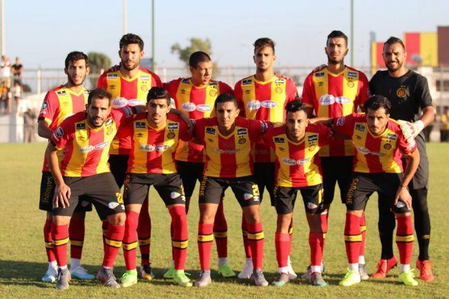 La formation sang et or ayant disputé le match amical face au CS Hammam-Lif au Parc B, le 14 août 2019. (Photo est.org.tn)