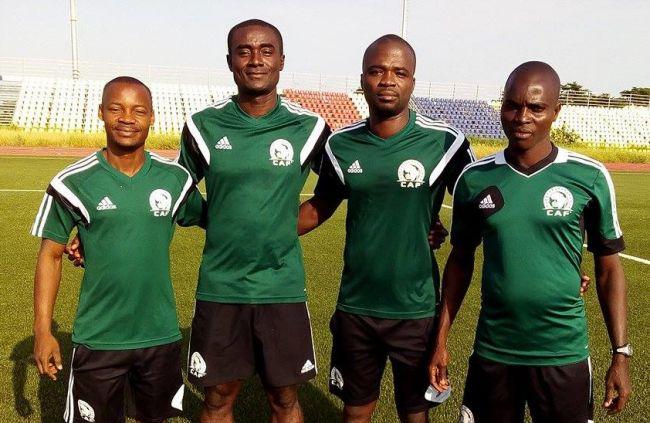 Les arbitres ivoiriens qui officieront le prochain match africain de l'Espérance (Photo Ghanasoccernet.com)