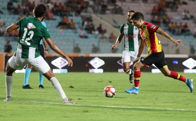 L'Algérien Billel Bensaha face au CS Hammam-Lif le 24 septembre 2019 au stade de Radès. (Photo est.org.tn)