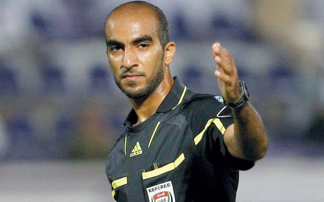 L'arbitre international émirati Adel Al Naqbi désigné pour le match face au club libanais d'Al Nejmeh au stade de Radès. (Photo emaratalyoum.com)