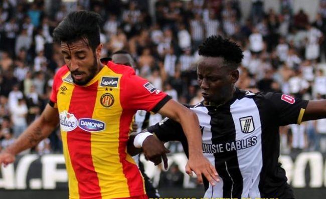 Raed Fedaâ lors du dernier match face au CS Sfaxien, le 27 octobre 2019 au stade Taïeb Mhiri. (Photo est.org.tn)