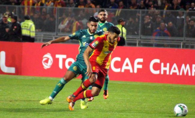 Anice Badri auteur de l'unique but de l'Espérance face à la JS Kabylie, le 6 décembre 2019 au stade de Radès. (Photo CAFOnline.com)